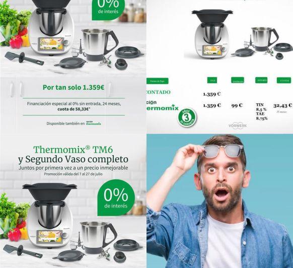 Thermomix® TM6 + 2 Vaso al 0 %