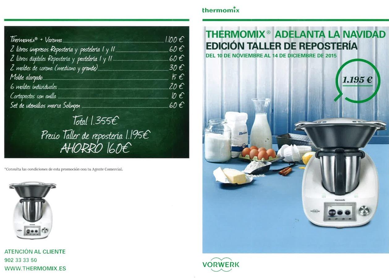 Thermomix® avança el Nadal - Edició Taller de reposteria