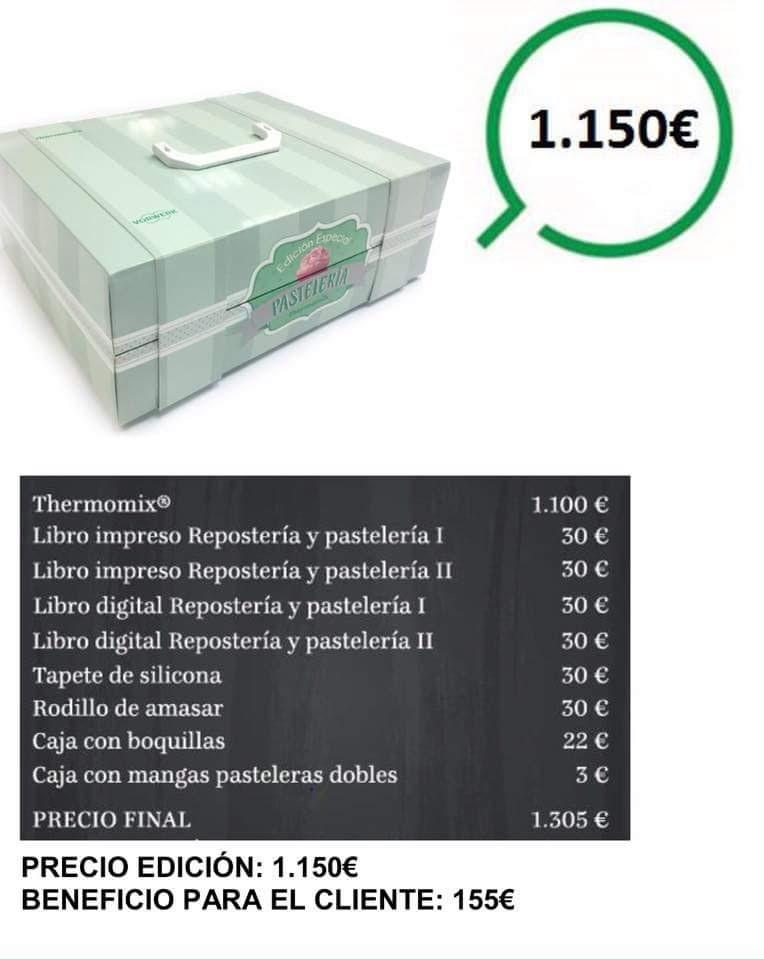 """""""EDICIÓN ESPECIAL PASTELERÍA"""" CON Thermomix® Sólo por 50€ más!!"""
