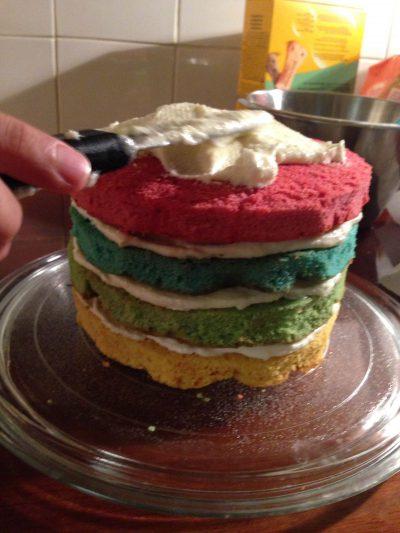 RAINBOW CAKE (TARTA ARCOÍRIS) CON Thermomix®