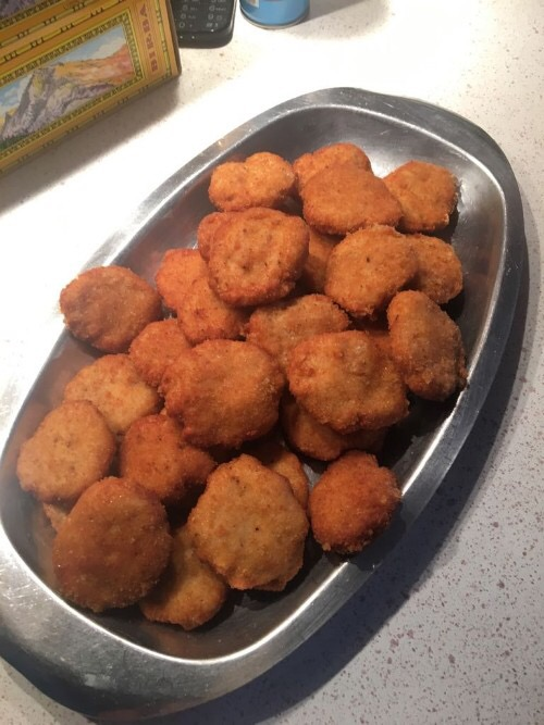Nuggets de pollo hecho con Thermomix®