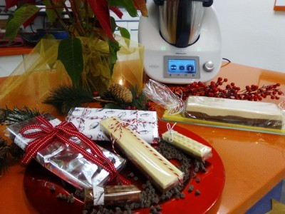 TURRÓN DE TRES CHOCOLATES CON Thermomix®