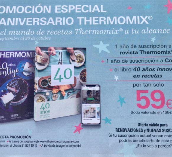 Revista Thermomix® + suscripción al Cookidoo + libro 40 años innovando en recetas