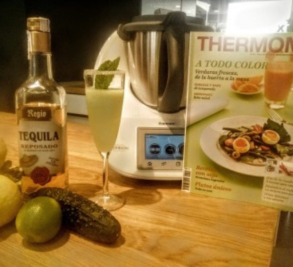 COCKTAIL MARGARITA DE PEPINO Y LIMA EN Thermomix®