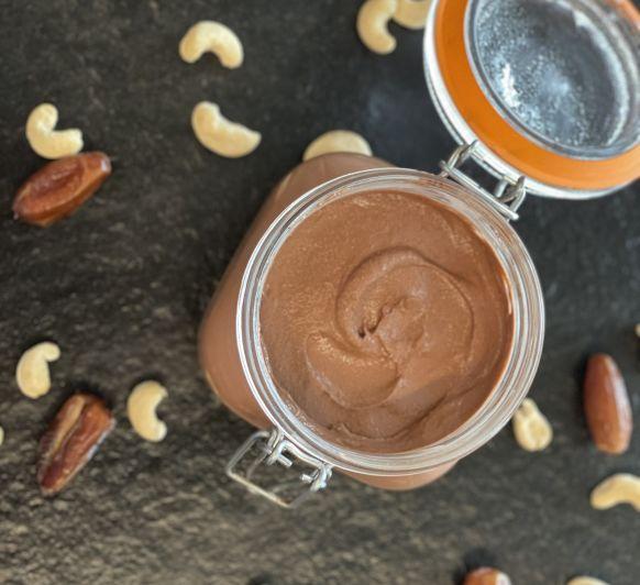 Crema de cacao saludable