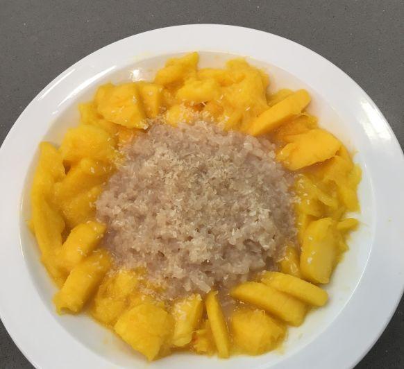 Arroz con Leche de Mango y Coco
