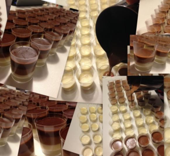 TARTA DE TRES XOCOLATES (VERSIÓ XARRUP) / TARTA DE TRES CHOCOLATES (VERSIÓN CHUPITO)