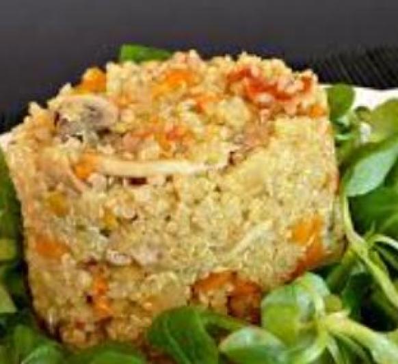 Quinoa en salsa de cítricos con verduras